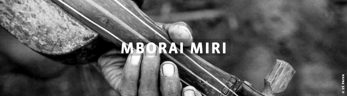 Mborai miri  -  Mão segurando instrumento musical de corda similar a violino